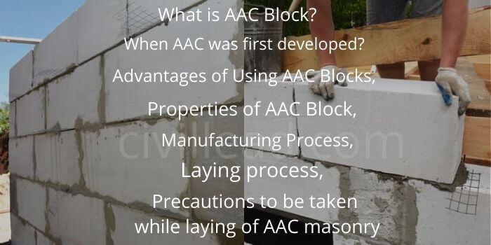 AAC Blocks - Properties, Advantages, Disadvantages & Laying Process Civil Lead