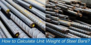 How to calculate unit weight of steel bars?