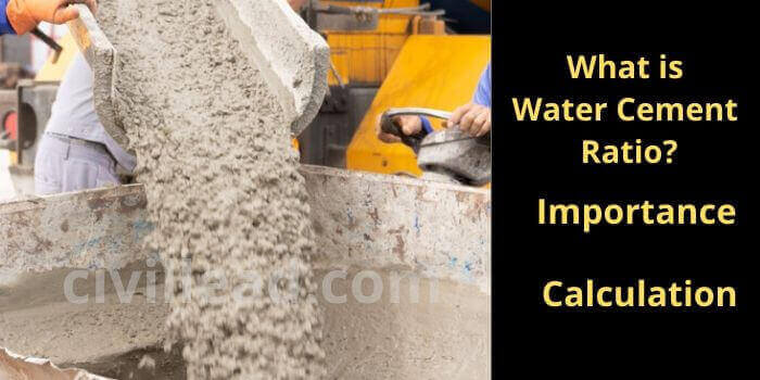 Water Cement Ratio - Definition, Importance, Calculation