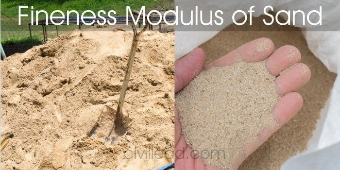 Fineness modulus of sand
