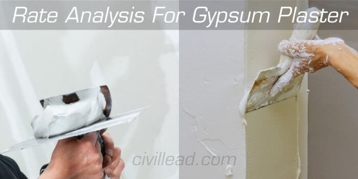 Rate Analysis For Gypsum Plaster