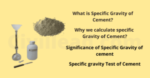 Specific gravity of Cement - Definition | Importance | Test Procedure Civil Lead