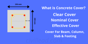 What is Concrete Cover? - Clear Cover, Nominal Cover, Effective Cover Civil Lead
