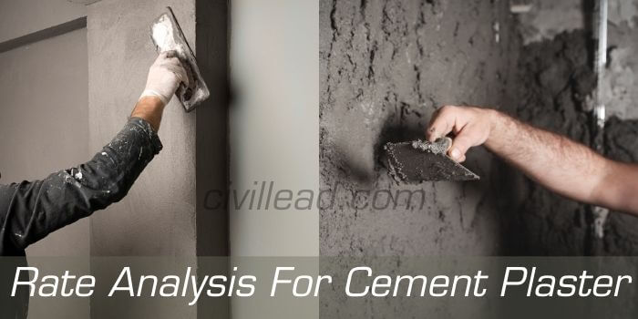 Rate Analysis For Cement Plaster