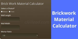 Brickwork Material Calculator