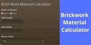 Brickwork Material Calculator