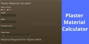 Plaster Material Calculator