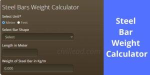 Steel Bar Weight Calculator