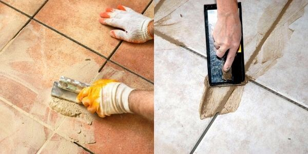 What is grouting?