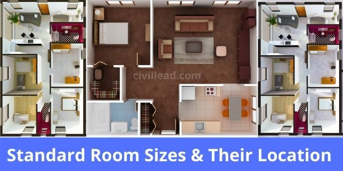 Standard Room Sizes & Their Location